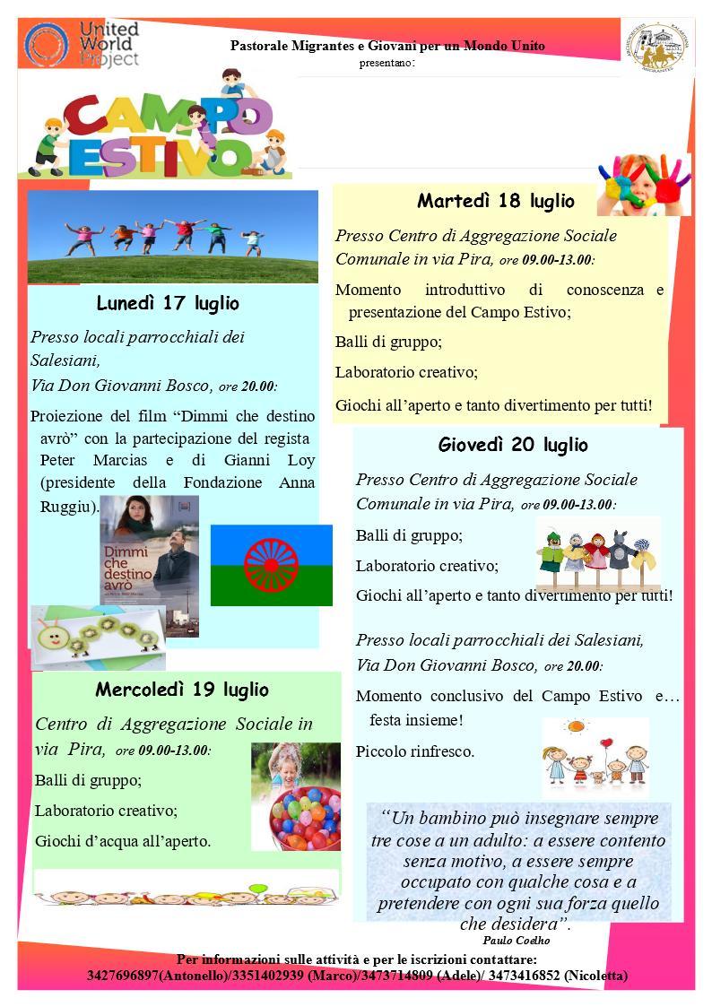 Manifesto formato A4 Campo estivo
