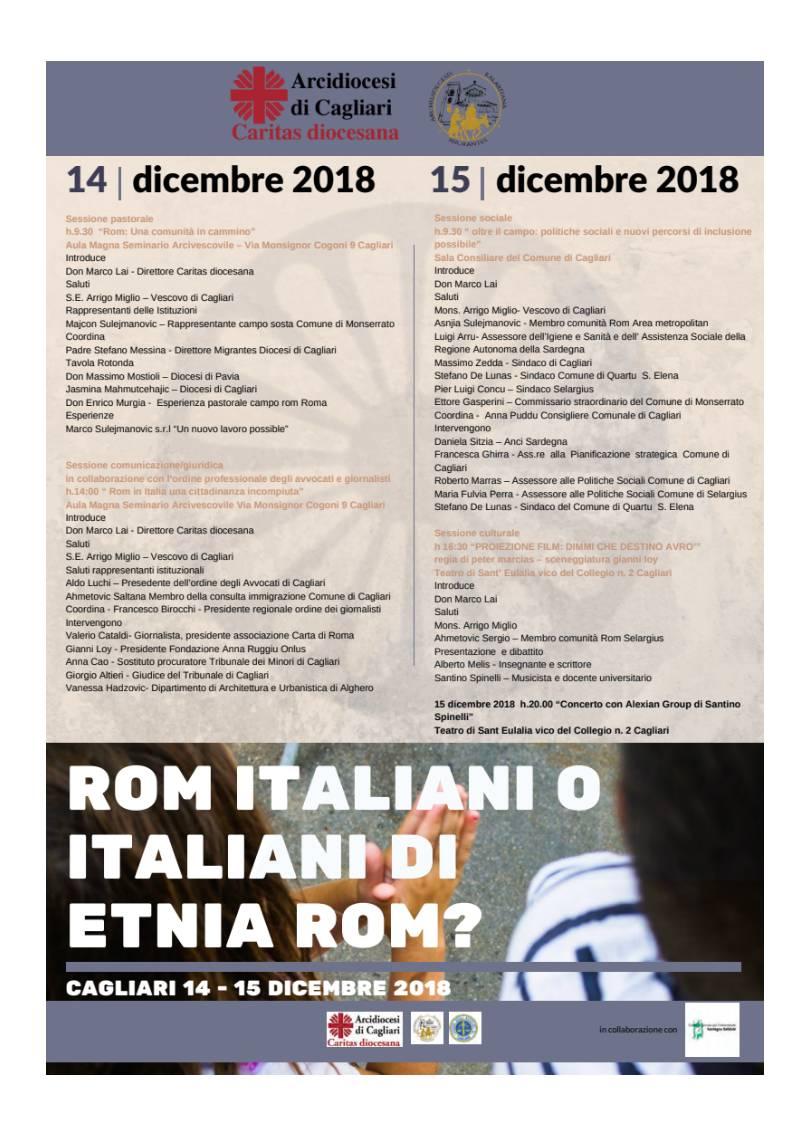 Convegno Rom 14 - 15 dicembre 2018